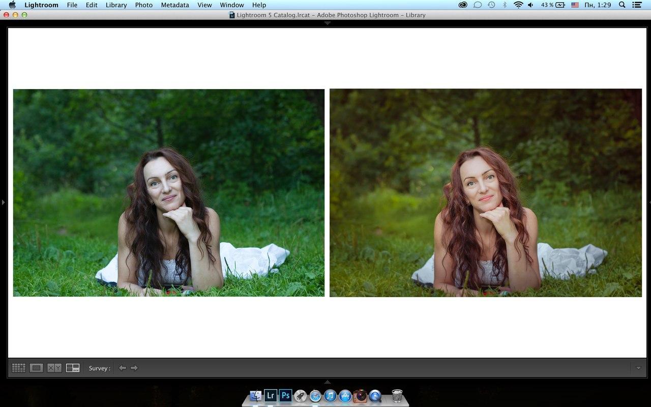 обработка фотографии в лайтрум для журнала мышкой картинке